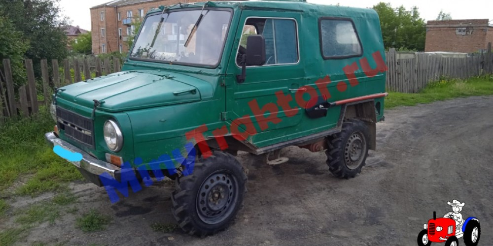 Тракторные шины Ozka 6.5/80 R15 на автомобиле ЛуАЗ, фото видео от нашего Покупателя, MinyTraktor.ru